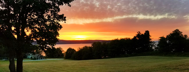 Sunset at Port Gamble Guest Houses